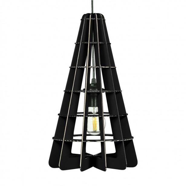 Corp de iluminat din carton - CONIC BLACK