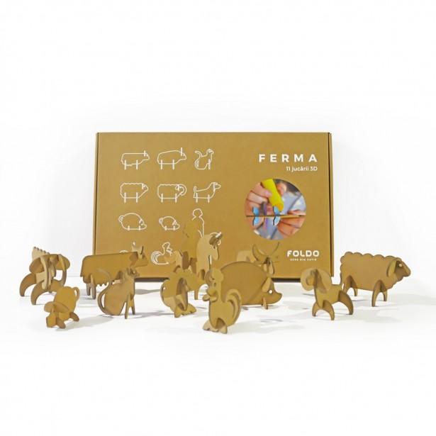 Set jucarii din carton 3D FERMA