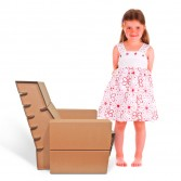 Fotoliu din carton SEATER JUNIOR, Foldo Romania
