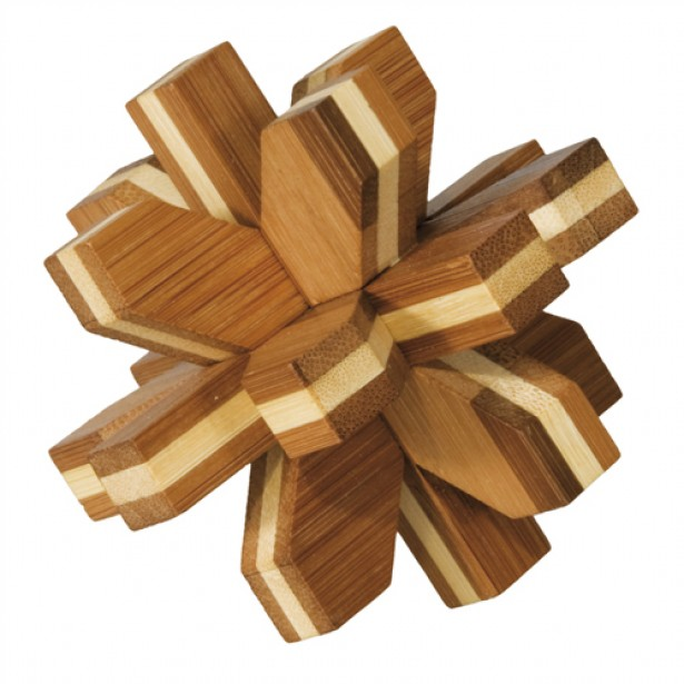 Joc logic puzzle 3D din bambus Fridolin - Cristal