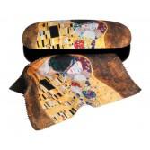 Etui cu textil si protectie ochelari Fridolin - Klimt Sarutul