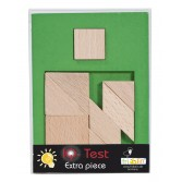Joc logic din lemn extra piesa Fridolin - dificultate 4