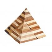 Joc logic puzzle 3D din bambus Fridolin - Piramida