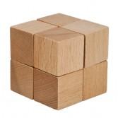 Joc logic puzzle 3D din lemn Fridolin - dificultate 2