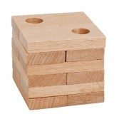 Joc logic puzzle 3D din lemn Fridolin - dificultate 3