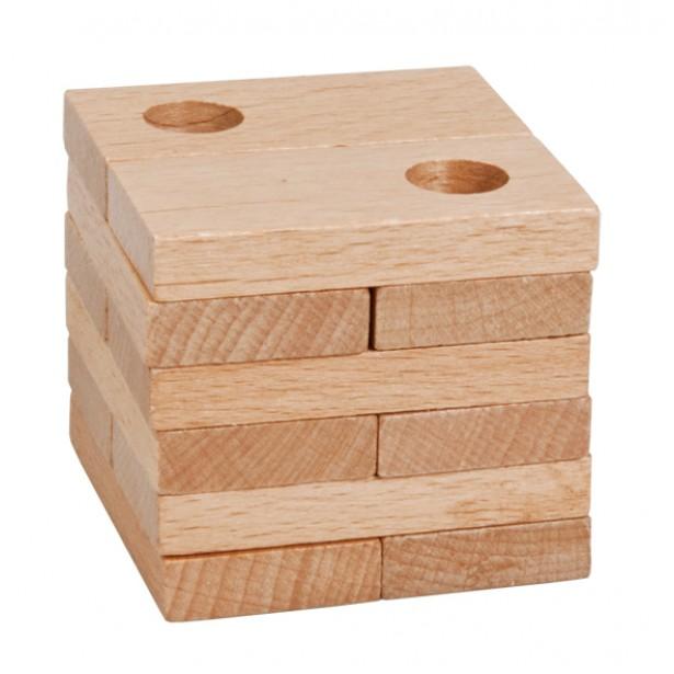 Joc logic puzzle 3D din lemn Fridolin - 16