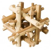 Joc logic puzzle 3D din bambus Fridolin - Magic sticks