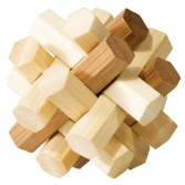 Joc logic puzzle 3D din bambus Fridolin - Nod dublu