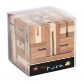 Joc logic puzzle 3D din bambus Fridolin - Flexi cube 1
