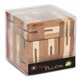 Joc logic puzzle 3D din bambus Fridolin - Flexi cube 2