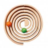 Set cu 6 bile mari din lemn colorat