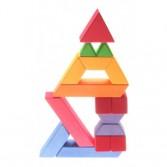 Set de construit trapez - 84 cuburi de construit din lemn