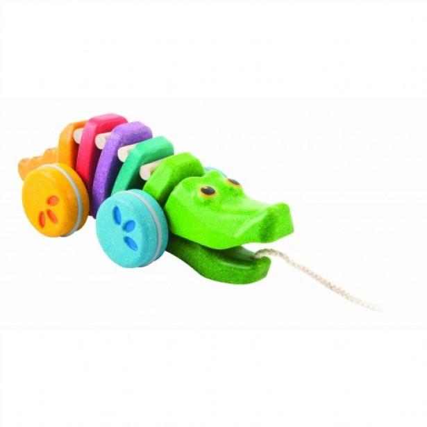 Jucarie de tras in forma de crocodil Plan Toys