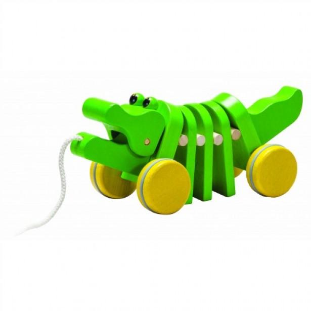 Jucarie - crocodil cu snur Plan Toys