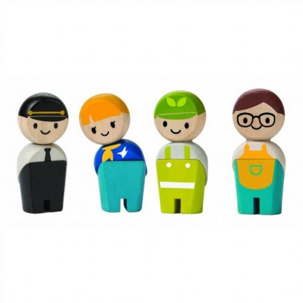 Set 4 figurine din lemn - joc de rol