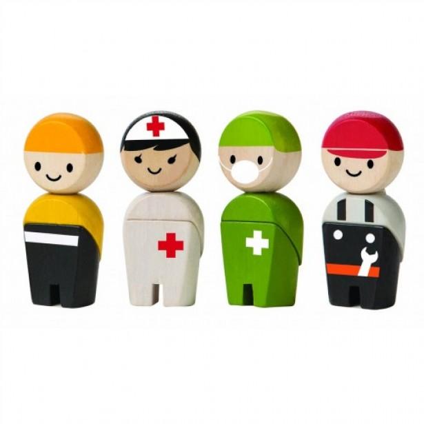 Set 4 figurine din lemn 2 - joc de rol
