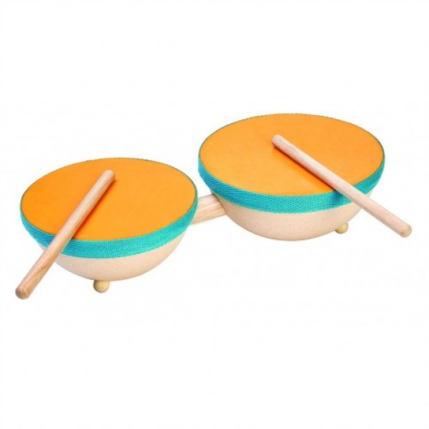 Instrument muzical pentru copii Plan Toys - Toba dubla