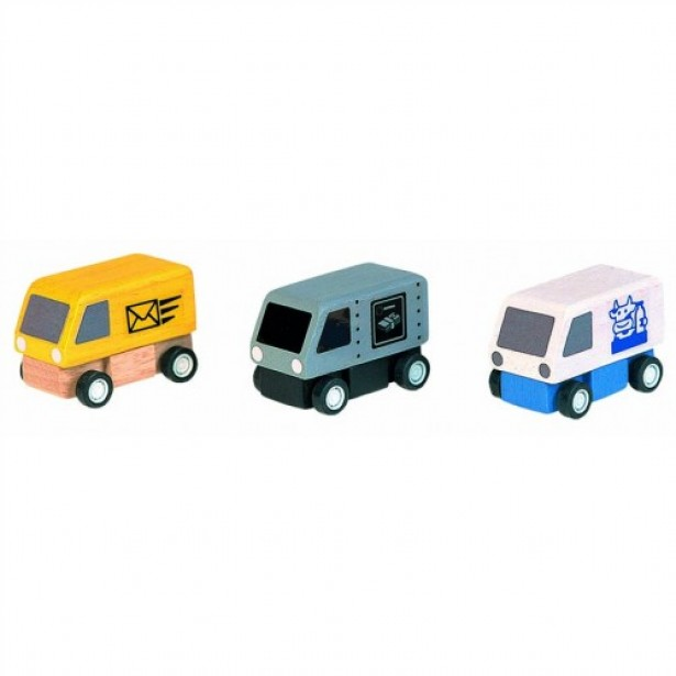 Set 3 masinute Plan Toys