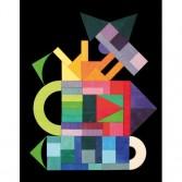 Puzzle creativ cu 59 piese din lemn cu magneti