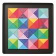 Puzzle creativ cu 64 piese din lemn cu magneti