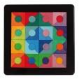 Puzzle creativ cu 48 piese din lemn cu magneti