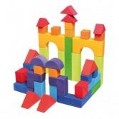 Set 46 cuburi de construit cu forme geometrice