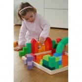 Joc de construit cu 62 cuburi din lemn mari - arhitectura medievala romanica