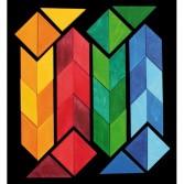 Puzzle creativ cu 36 piese din lemn cu magneti