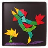 Puzzle creativ cu 65 piese din lemn cu magneti