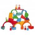 Joc de construit - blocuri formele neregulate ale naturii - tip Waldorf