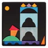 Puzzle creativ cu 28 piese din lemn cu magneti