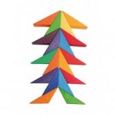 Puzzle creativ ce ilustreaza conceptul de culori complementare a lui Goethe