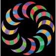 Puzzle creativ cu 72 piese din lemn cu magneti