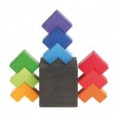 Joc de indemanare cu 9 piese colorate din lemn GRIMM'S