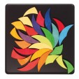 Puzzle creativ cu 36 piese din lemn cu magneti Grimm's