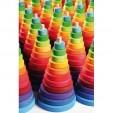 Turn 11 piese de lemn colorate in culorile curcubeului