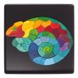 Puzzle creativ cu 50 piese din lemn cu magneti