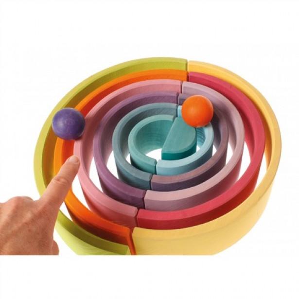 Set creativ de 12 piese in forma de semicerc si culori pastel