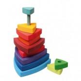 Turn pentru bebelusi 11 piese colorat in culorile curcubeului