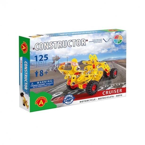 Set constructie 125 piese metalice Constructor - Cruiser (Motor), Alexander