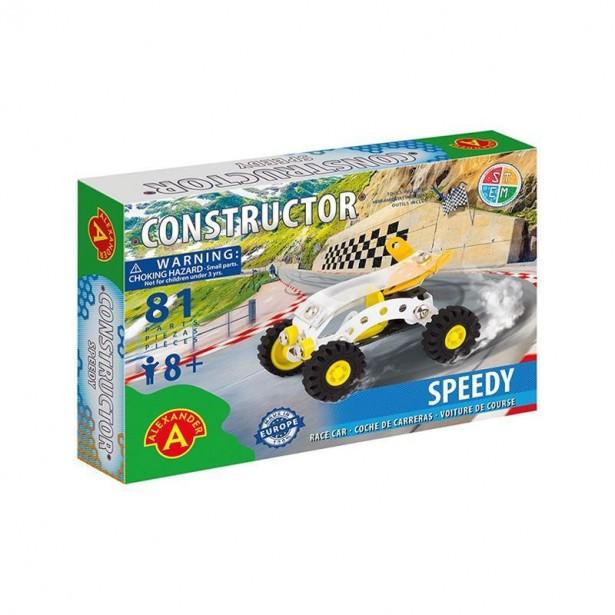 Set constructie 81 piese metalice Constructor - Speedy (Beach Buggy), +8 ani Alexander