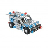 Set constructie 302 piese metalice Constructor Masina de politie, Alexander Toys