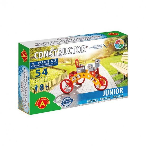 Set constructie 54 piese metalice Constructor - Junior (Tricycle), +8 ani Alexander