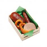 Ladita cu produse de patiserie asortata din lemn, Erzi