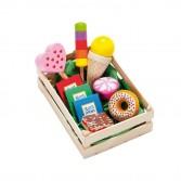 Ladita dulciuri asortate din lemn, Erzi