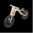 Bicicleta de balans fara pedale 3 in 1 pentru copii, lemn natur, leg&go