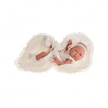 Păpușă fetita Cecilia cu paturica, 42 cm, Antonio Juan