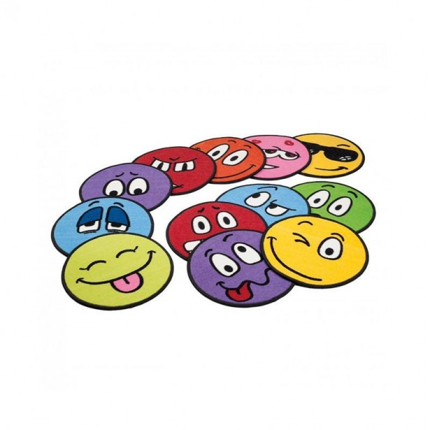 Set 10 covorase colorate Emotii, Erzi