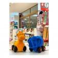 Jucarie de tras din cauciuc natural, Elefant, albastru, 1an + Rubbabu
