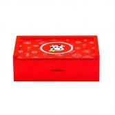 Caserola pranz (lunchbox) de jucarie, rosie, din lemn, MamaMemo